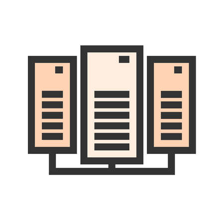 Data, center, network, server icon  image. Can also be used for communication, connection, technology. Suitable for web apps, mobile apps and print media.