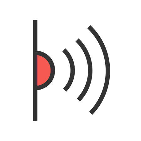 Infrared, red, light, signals icon  image. Can also be used for communication, connection, technology. Suitable for web apps, mobile apps and print media.