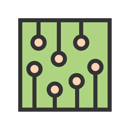 Circuit, ic, processor icon  image. Can also be used for computer and hardware. Suitable for use on web apps, mobile apps and print media.