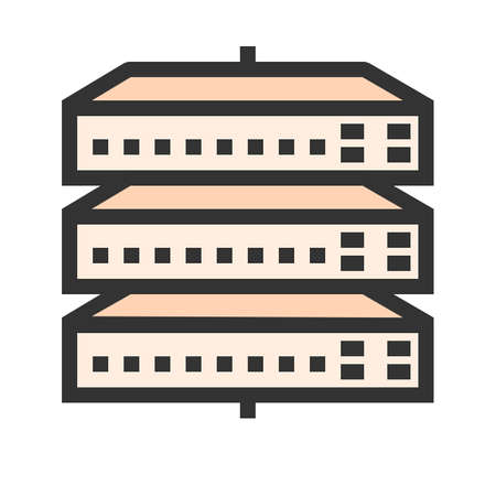 Network switch, server, switch, port icon image. Can also be used for communication, connection, technology. Suitable for web apps, mobile apps and print media. Illustration
