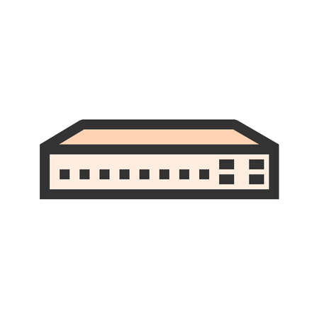 Networking switch, network, router icon image. Can also be used for communication, connection, technology. Suitable for web apps, mobile apps and print media.