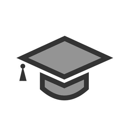 Graduation, hat, celebration, get- together icon  image. Can also be used for education, academics and science. Suitable for use on web apps, mobile apps and print media.