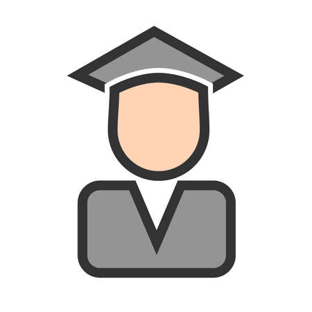 Certificate, diploma, convocation, degree icon  image. Can also be used for education, academics and science. Suitable for use on web apps, mobile apps and print media. 일러스트