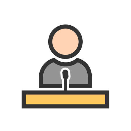 Speaker, guest, lecture, speech icon  image. Can also be used for education, academics and science. Suitable for use on web apps, mobile apps and print media.