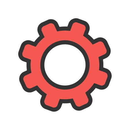 Instellingen, besturingselementen, pictogramafbeelding van opties. Kan ook worden gebruikt voor telefoon en communicatie. Geschikt voor gebruik op web-apps, mobiele apps en gedrukte media.