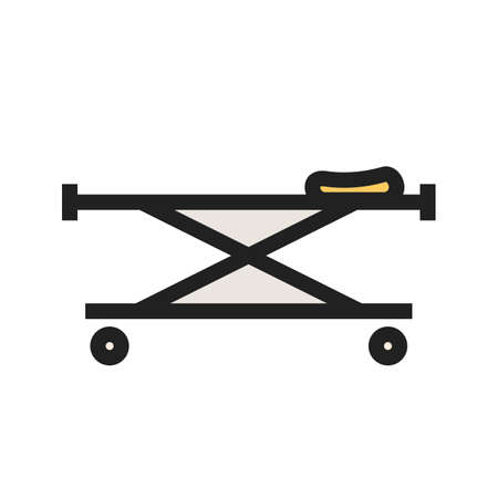 Stretcher, bed, rescue icon  image. Can also be used for healthcare and medical. Suitable for mobile apps, web apps and print media.