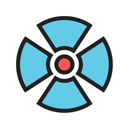 Radiation, radioactive, radio therapy icon image. Can also be used for healthcare and medical. Suitable for mobile apps, web apps and print media.