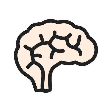 Human Brain Icon Stock Photo
