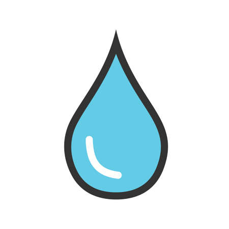 Water, droplet, pipe icon vector image. Can also be used for energy and technology. Suitable for web apps, mobile apps and print media.