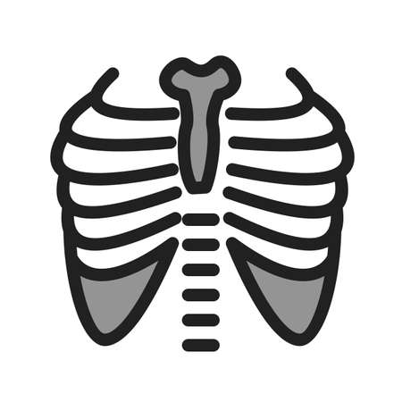 Lungs,x-ray, chest icon image. Can also be used for healthcare and medical. Suitable for mobile apps, web apps and print media.