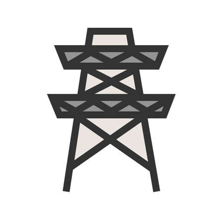 Electricity, power, tower icon  image. Can also be used for energy and technology. Suitable for web apps, mobile apps and print media. Illustration