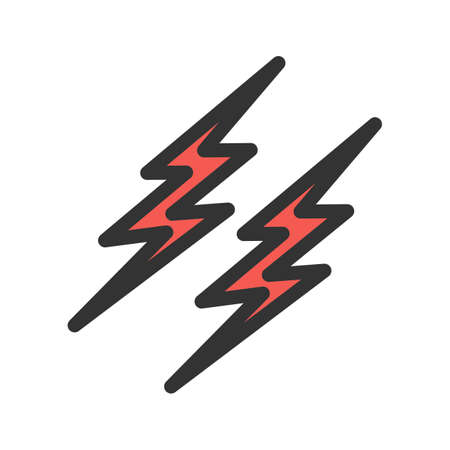 Lightning, electric, thunder icon image. Can also be used for energy and technology. Suitable for web apps, mobile apps and print media.