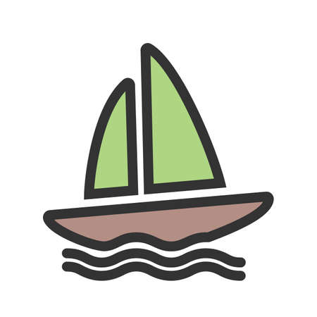 Boating, water, yacht, Illustration