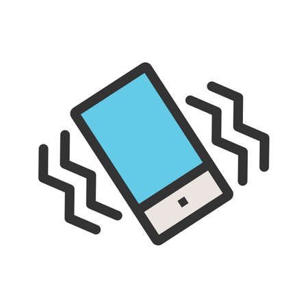 Mode, mobile, vibrate icon  image. Can also be used for mobile apps, phone tab bar and settings. Suitable for use on web apps, mobile apps and print media