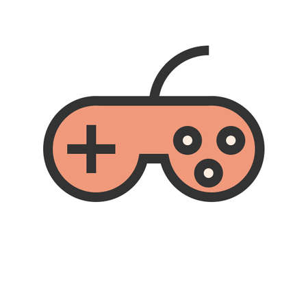 Joystick, video, game icon image. Can also be used for computer and hardware. Suitable for use on web apps, mobile apps and print media. Illustration