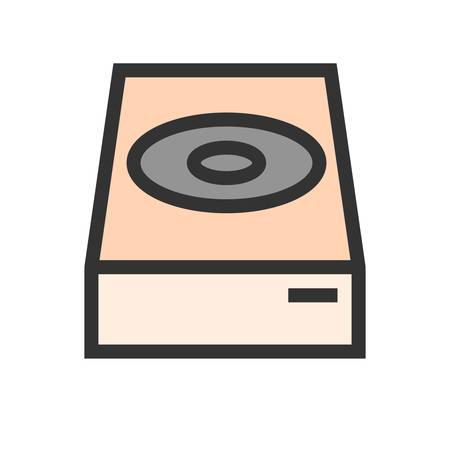 Dvd, cd, player icon image. Can also be used for computer and hardware. Suitable for use on web apps, mobile apps and print media. Illustration