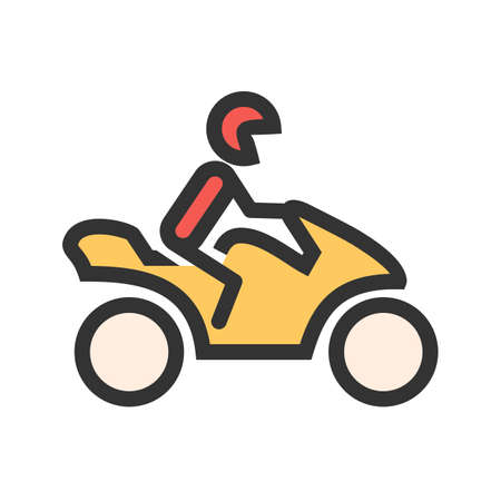 Motorcycle, biker, bike icon  image. Can also be used for transport, transportation and travel. Suitable for mobile apps, web apps and print media.