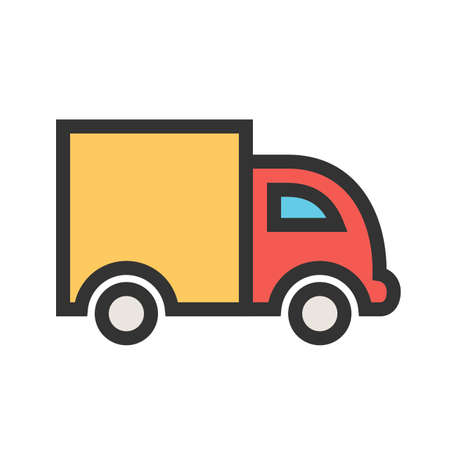 Truck, road, transportationicon  image. Can also be used for transport, transportation and travel. Suitable for mobile apps, web apps and print media.