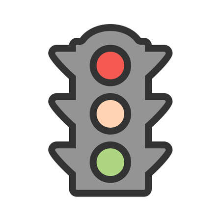 Traffic, light, signal icon  image. Can also be used for transport, transportation and travel. Suitable for mobile apps, web apps and print media.