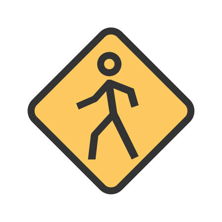 Pedestrian, corssing, crosswalk icon  image. Can also be used for transport, transportation and travel. Suitable for mobile apps, web apps and print media.