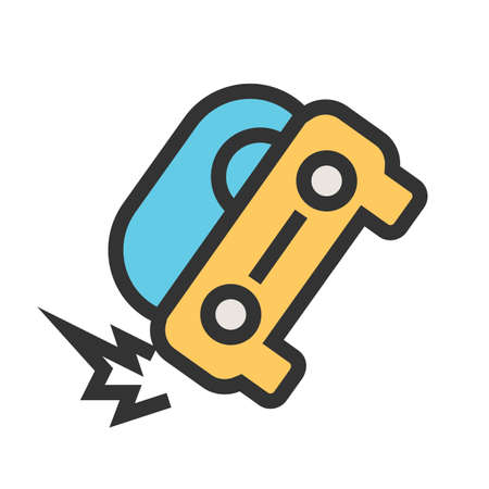 Car, accident, crash icon  image. Can also be used for transport, transportation and travel. Suitable for mobile apps, web apps and print media.