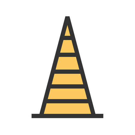 cone, traffic, construction icon image. Can also be used for transport, transportation and travel. Suitable for mobile apps, web apps and print media. 스톡 콘텐츠 - 92605604