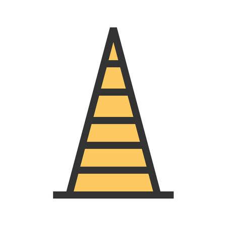 Kegel, verkeer, bouw pictogramafbeelding. Kan ook worden gebruikt voor transport, transport en reizen. Geschikt voor mobiele apps, web-apps en gedrukte media. Stockfoto - 92605604
