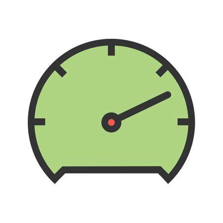 Snelheidsmeter pictogram afbeelding vector illustratie