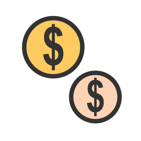 Coins icon image vector illustration