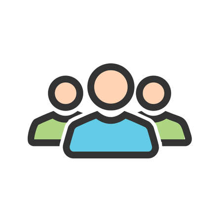 Team, people, users icon vector image. Can also be used for banking, finance, business. Suitable for web apps, mobile apps and print media. Ilustracja