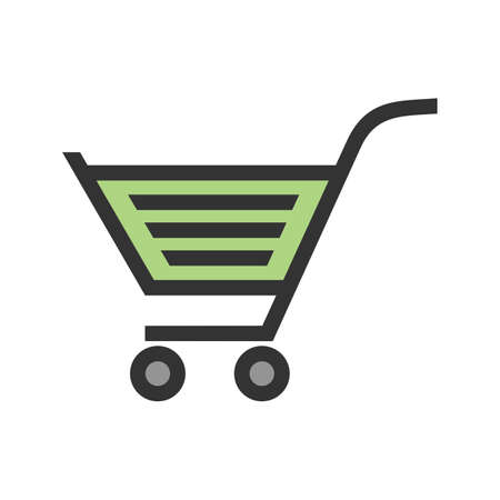 Cart, trolley, unlocked, basket icon image. Can also be used for eCommerce, shopping, business. Suitable for use on web apps, mobile apps and print media.