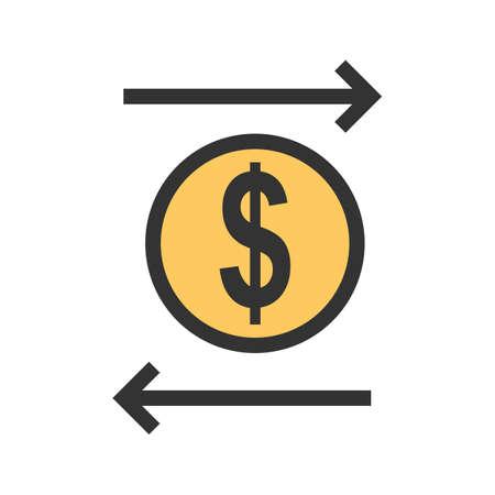 Transacción, transferencia, imagen de icono de fondos. También se puede utilizar para negocios, finanzas, tecnología, economía y contabilidad. Adecuado para aplicaciones web, aplicaciones móviles y medios impresos. Foto de archivo - 92770516