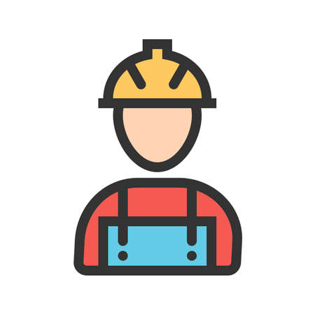 Workers, helmet, site icon image. Can also be used for construction, interiors and building. Suitable for use on web apps, mobile apps and print media. 矢量图片