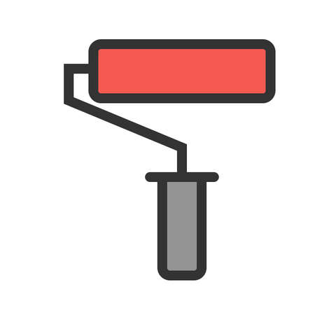 Paint, roller, painting icon image. Can also be used for construction, interiors and building. Suitable for use on web apps, mobile apps and print media.