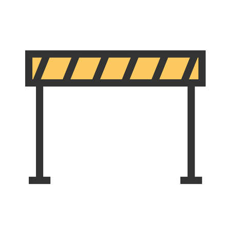Barrier, caution, traffic icon image. Can also be used for construction, interiors and building. Suitable for use on web apps, mobile apps and print media. Illustration