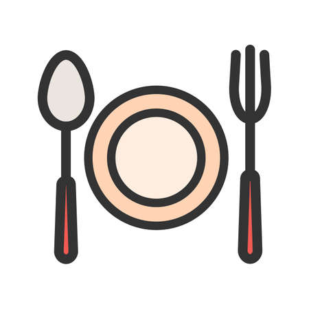 Fork, spoon, cuttlery icon  image. Can also be used for eatables, food and drinks. Suitable for use on web apps, mobile apps and print media