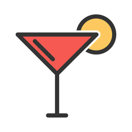 Cocktail, ice, beverage icon  image. Can also be used for eatables, food and drinks. Suitable for use on web apps, mobile apps and print media