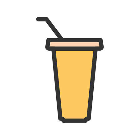 Juice, orange, cup icon  image. Can also be used for eatables, food and drinks. Suitable for use on web apps, mobile apps and print media Illusztráció