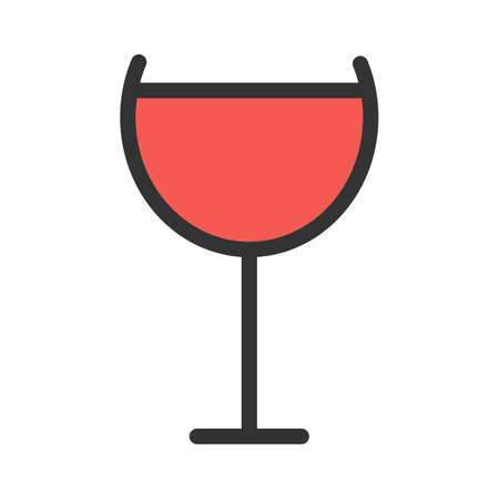 Wine, champagne, goblet icon  image. Can also be used for eatables, food and drinks. Suitable for use on web apps, mobile apps and print media Illusztráció