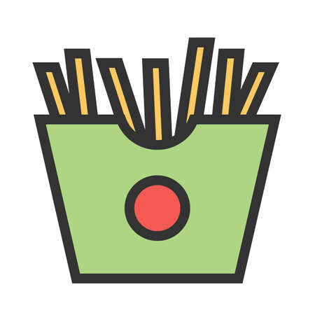 Fries, snack, potato icon  image. Can also be used for eatables, food and drinks. Suitable for use on web apps, mobile apps and print media