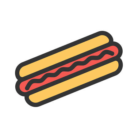 Hotdog, sausage, fries icon  image. Can also be used for eatables, food and drinks. Suitable for use on web apps, mobile apps and print media