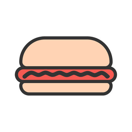 Burger, hamburger, fast food icon  image. Can also be used for eatables, food and drinks. Suitable for use on web apps, mobile apps and print media