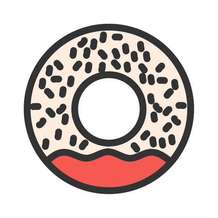 Donut, cake, sweet icon  image. Can also be used for eatables, food and drinks. Suitable for use on web apps, mobile apps and print media