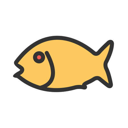 Fish, seafood, fillet icon  image. Can also be used for eatables, food and drinks. Suitable for use on web apps, mobile apps and print media