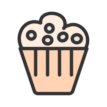 Muffin, pastry, sweet icon  image. Can also be used for eatables, food and drinks. Suitable for use on web apps, mobile apps and print media
