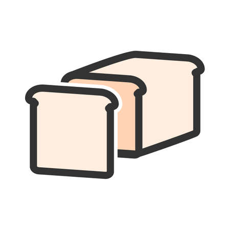 Bread, grain, sliced icon  image. Can also be used for eatables, food and drinks. Suitable for use on web apps, mobile apps and print media Illusztráció