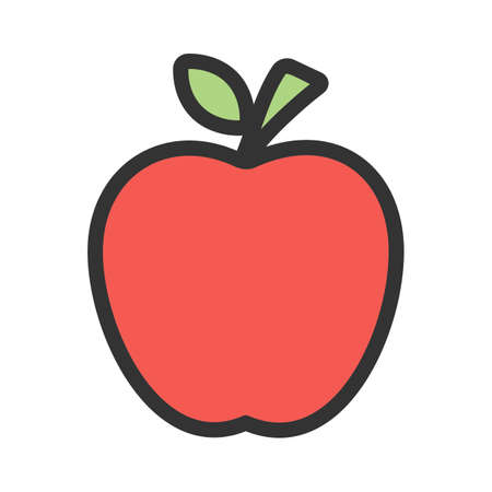 Apple, fruit, delicious icon  image. Can also be used for eatables, food and drinks. Suitable for use on web apps, mobile apps and print media