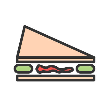 Sandwich, cheese, bread icon  image. Can also be used for eatables, food and drinks. Suitable for use on web apps, mobile apps and print media Illustration