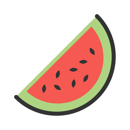 Watermelon, slice icon  image. Can also be used for eatables, food and drinks. Suitable for use on web apps, mobile apps and print media Illusztráció