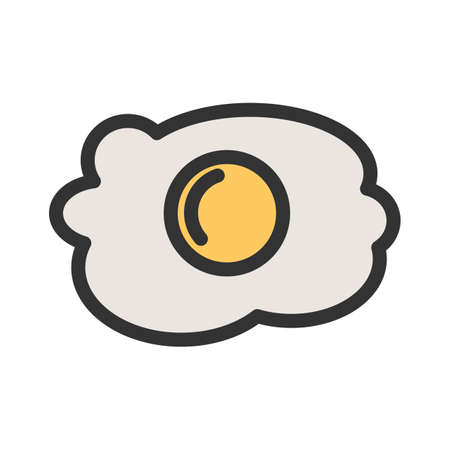 Egg, fried, omelette icon  image. Can also be used for eatables, food and drinks. Suitable for use on web apps, mobile apps and print media